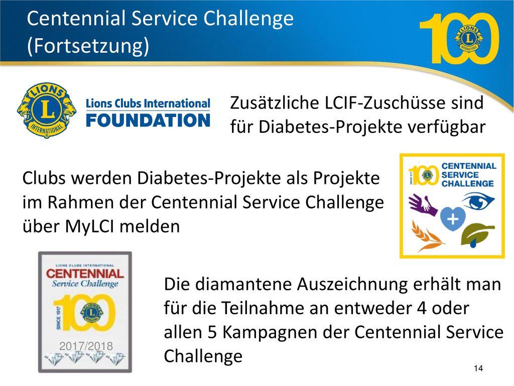 Centennial Service Challenge (Fortsetzung)
