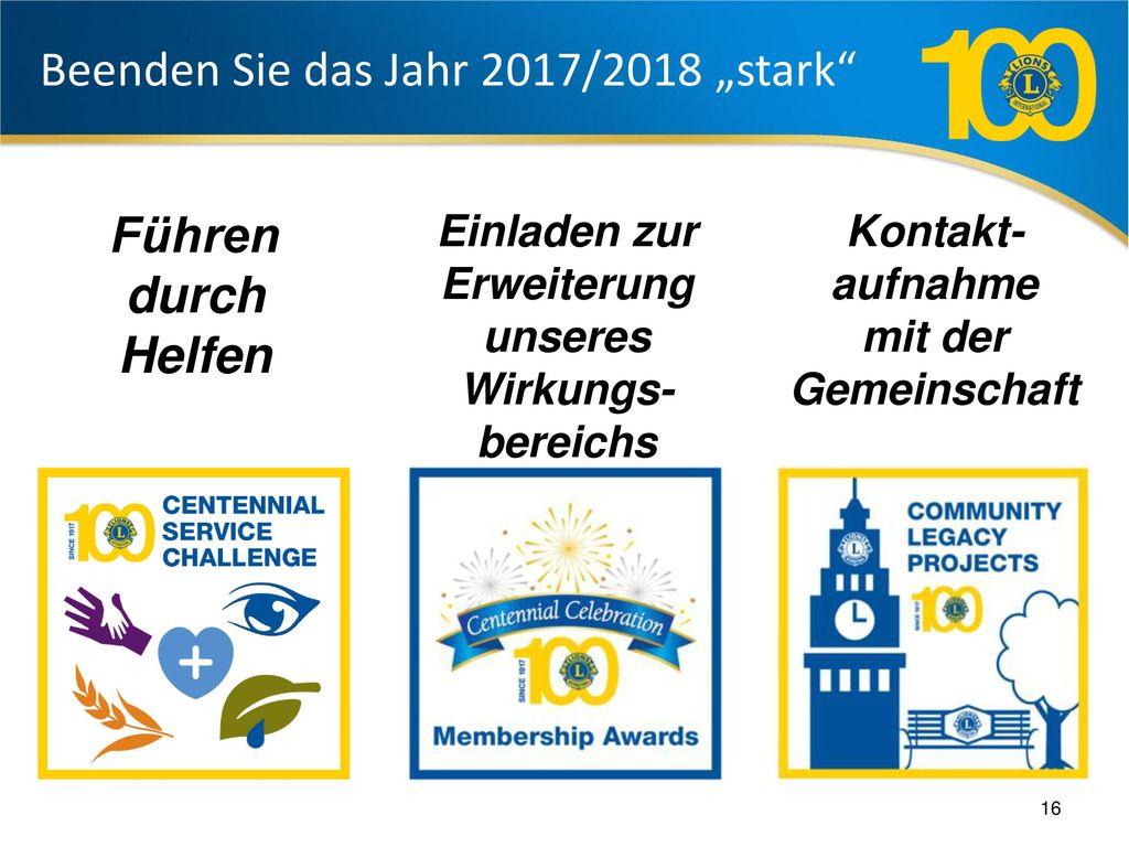 """Beenden Sie das Jahr 2017/2018 """"stark"""