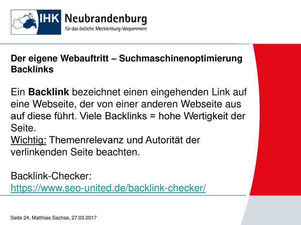 Backlink-Checker: https://www.seo-united.de/backlink-checker/