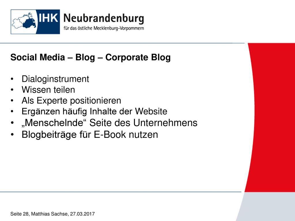 """""""Menschelnde Seite des Unternehmens Blogbeiträge für E-Book nutzen"""