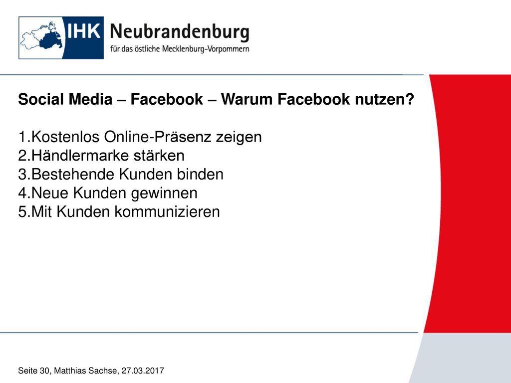Social Media – Facebook – Warum Facebook nutzen