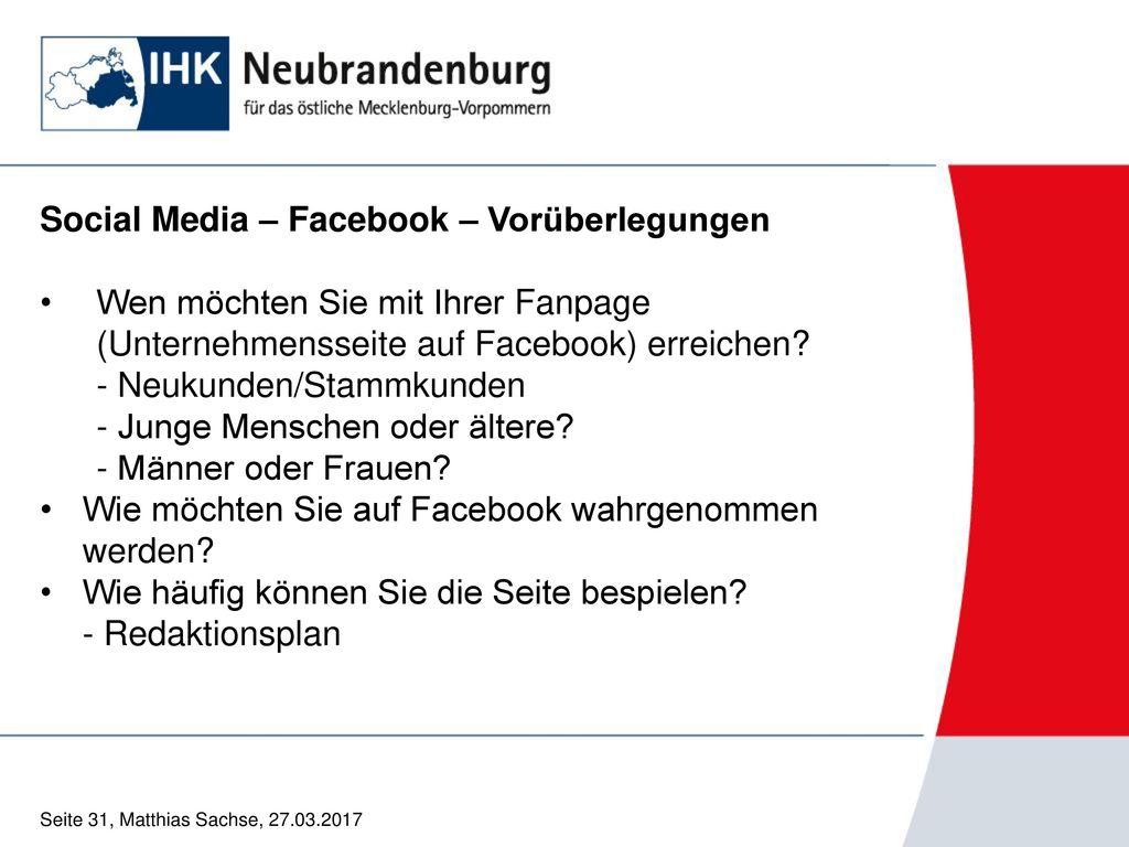 Social Media – Facebook – Vorüberlegungen