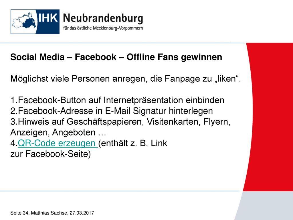 Social Media – Facebook – Offline Fans gewinnen