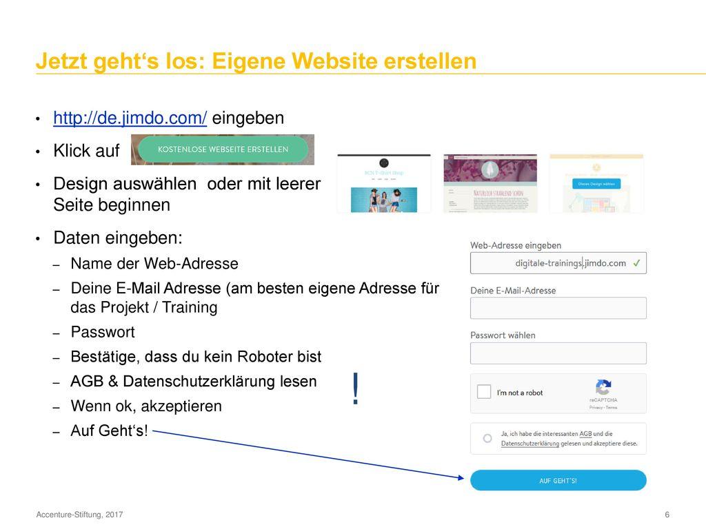 Agenda Website / Blog erstellen: was ist zu beachten