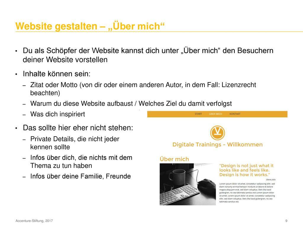 Website gestalten – Erste Schritte