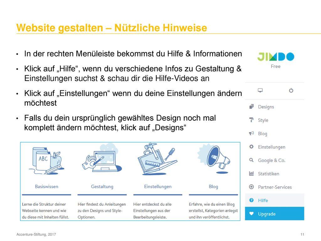 """Website gestalten – """"Über mich"""