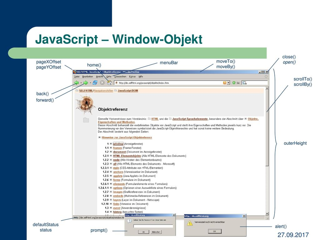 JavaScript – Window-Objekt