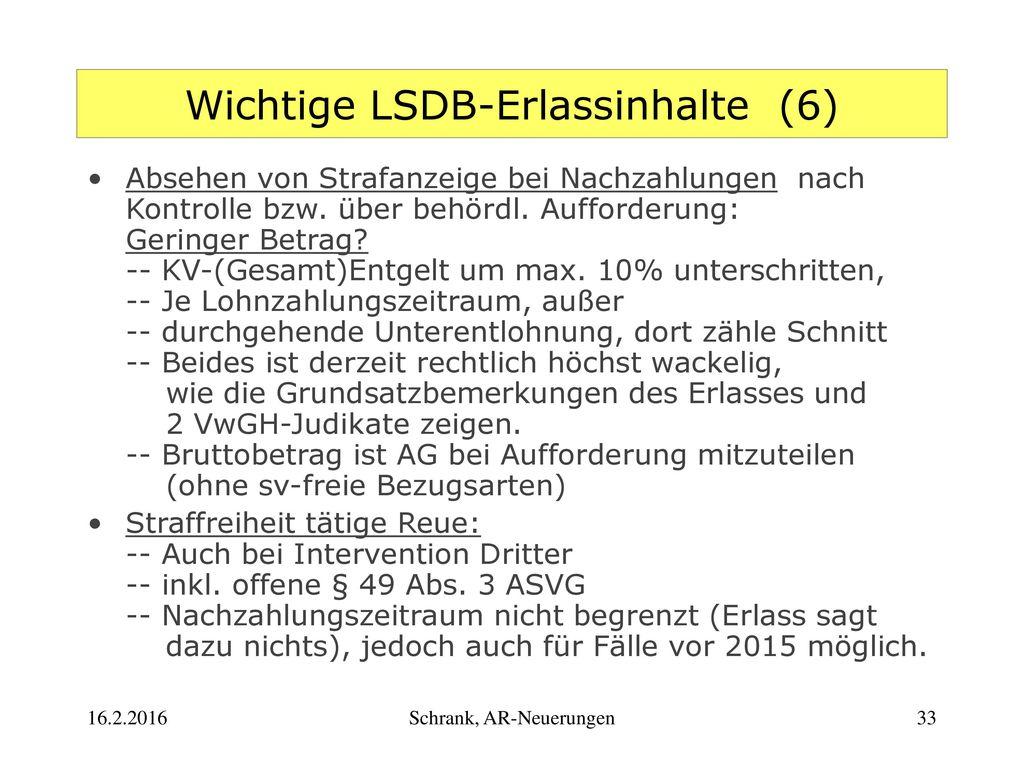 Wichtige LSDB-Erlassinhalte (6)