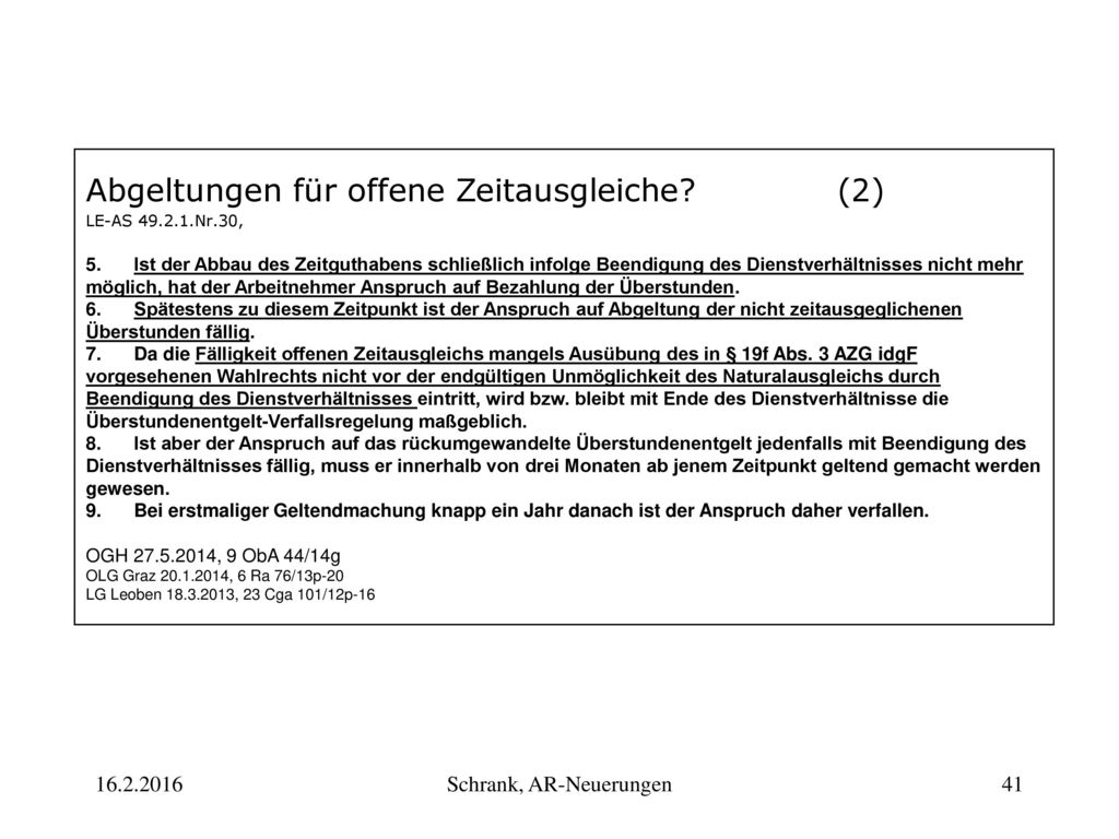 Schrank, AR-Neuerungen