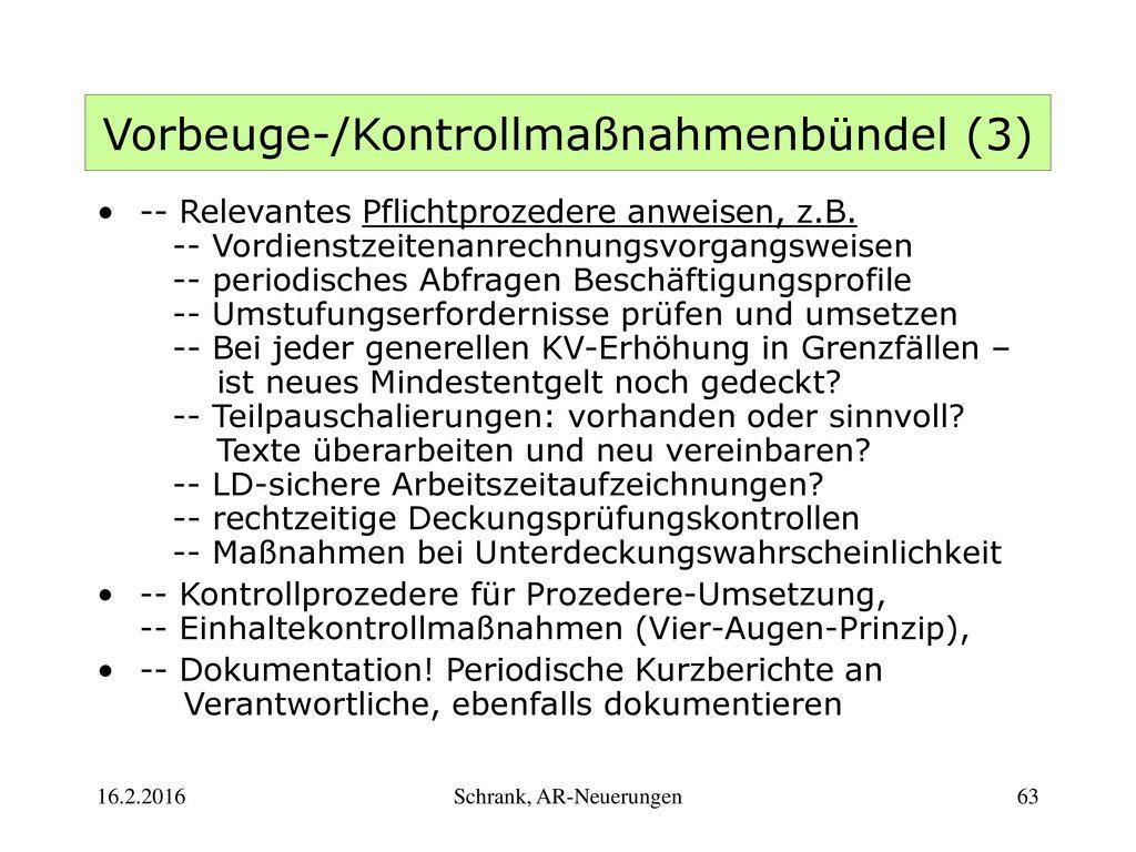 Vorbeuge-/Kontrollmaßnahmenbündel (3)