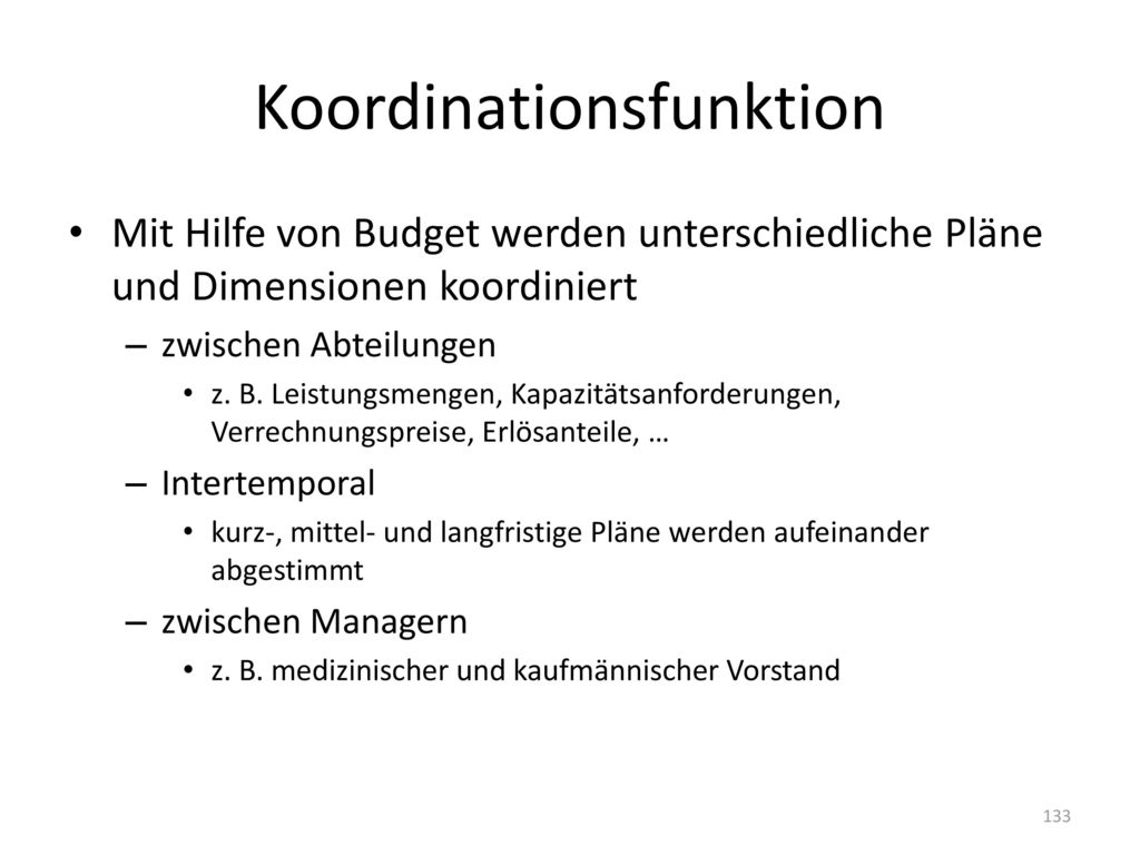 Koordinationsfunktion