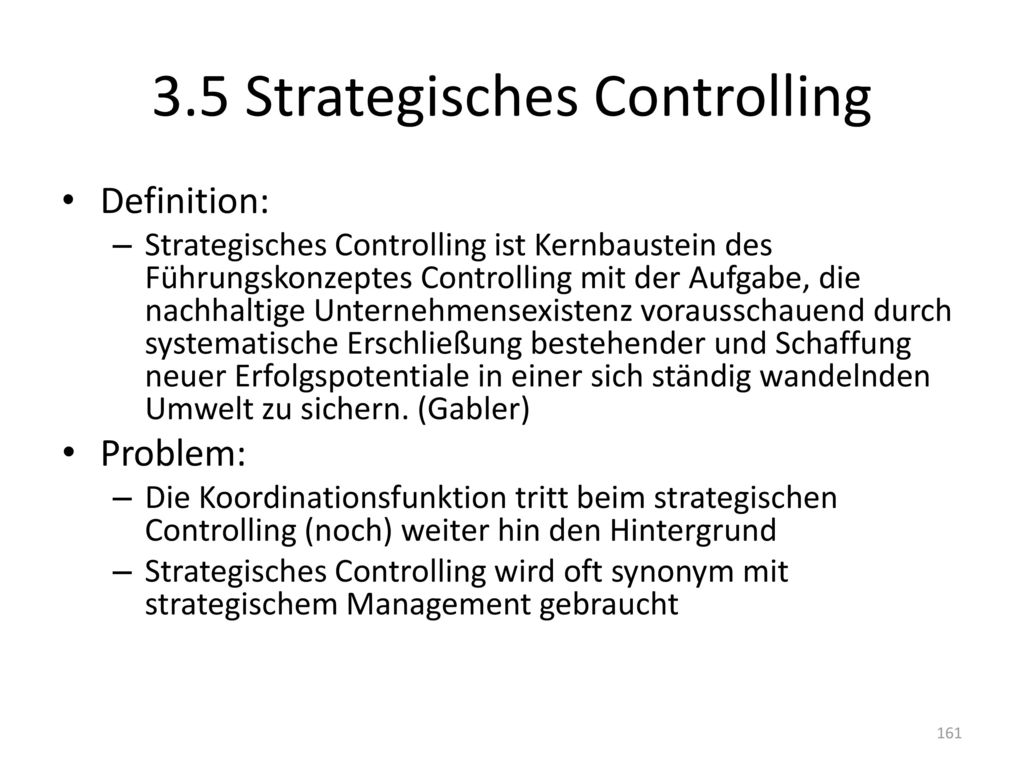 3.5 Strategisches Controlling