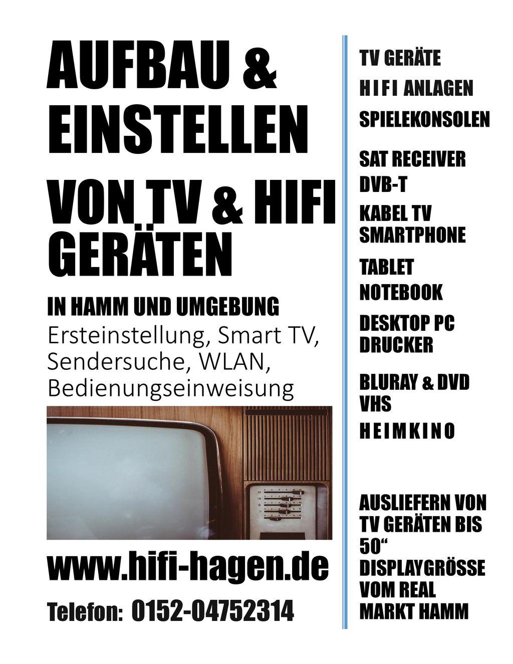 Aufbau & Einstellen Von Tv & Hifi Geräten www.hifi-hagen.de
