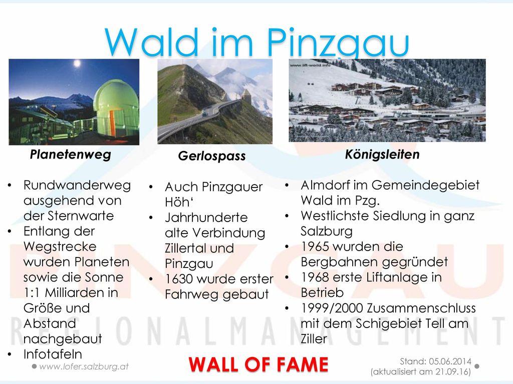 Wald im Pinzgau WALL OF FAME Planetenweg