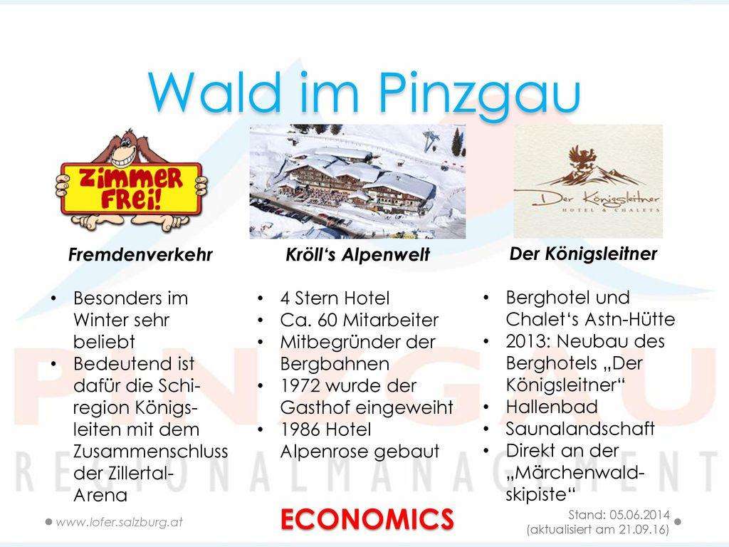 Wald im Pinzgau ECONOMICS Fremdenverkehr