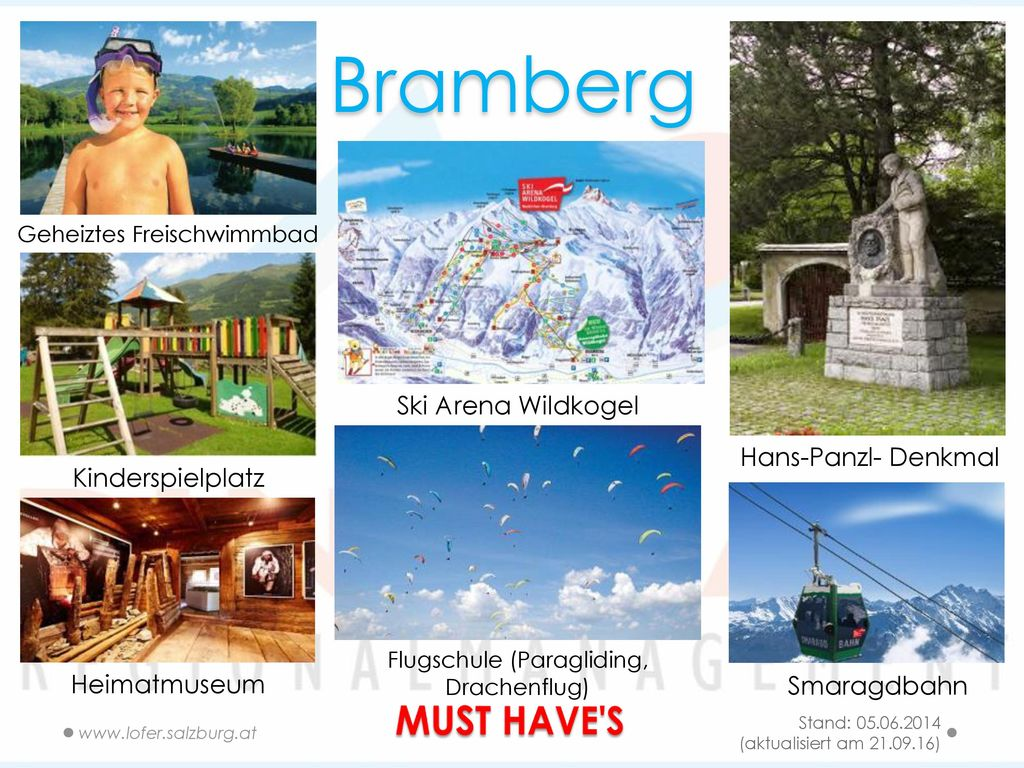 Bramberg MUST HAVE S Ski Arena Wildkogel Hans-Panzl- Denkmal