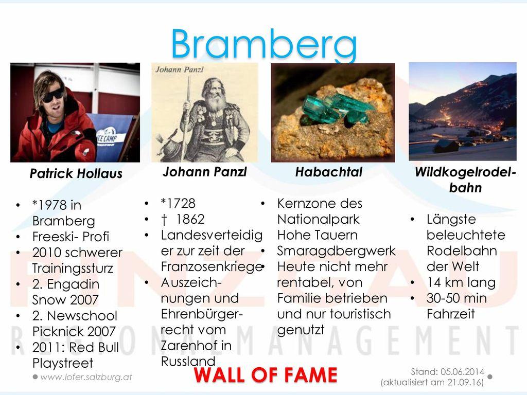 Bramberg WALL OF FAME Patrick Hollaus *1978 in Bramberg Freeski- Profi