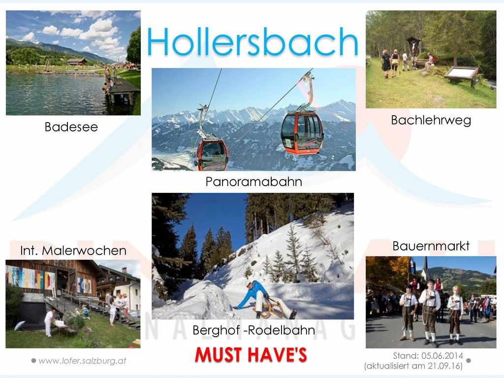 Hollersbach MUST HAVE S Bachlehrweg Badesee Panoramabahn Bauernmarkt