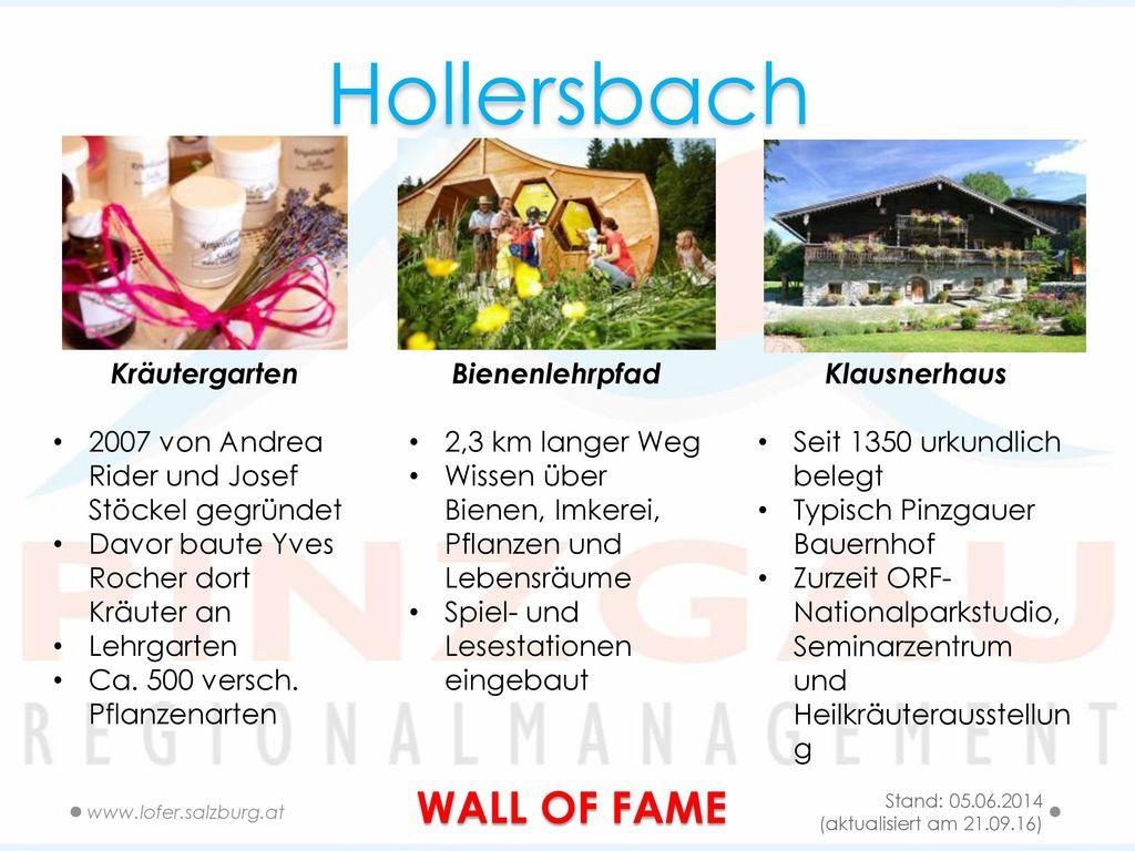 Hollersbach WALL OF FAME Kräutergarten