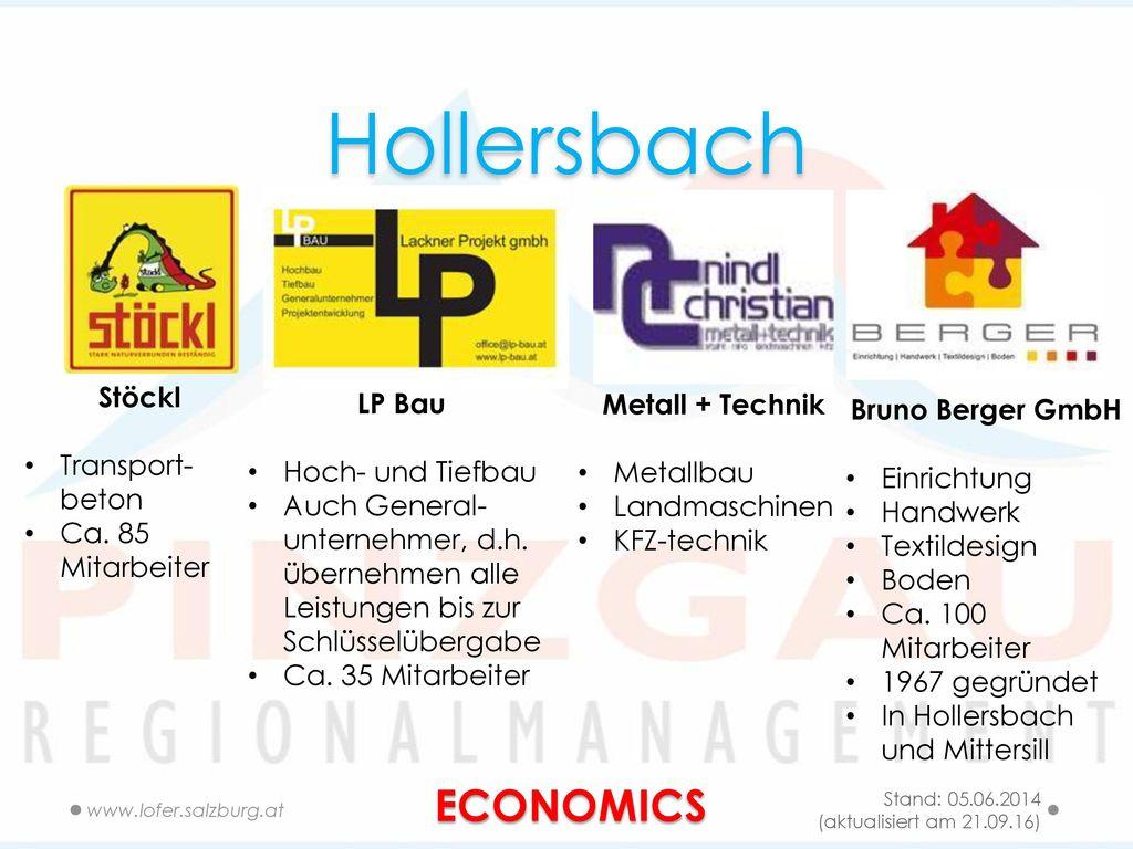 Hollersbach ECONOMICS Stöckl LP Bau Metall + Technik Bruno Berger GmbH