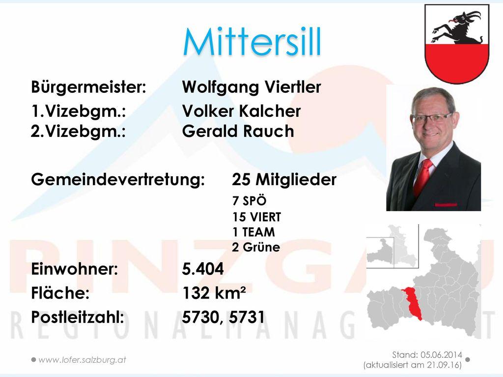 Mittersill Bürgermeister: Wolfgang Viertler