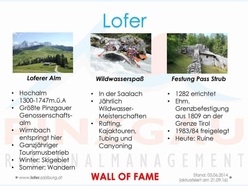 Lofer WALL OF FAME Loferer Alm Hochalm 1300-1747m.ü.A
