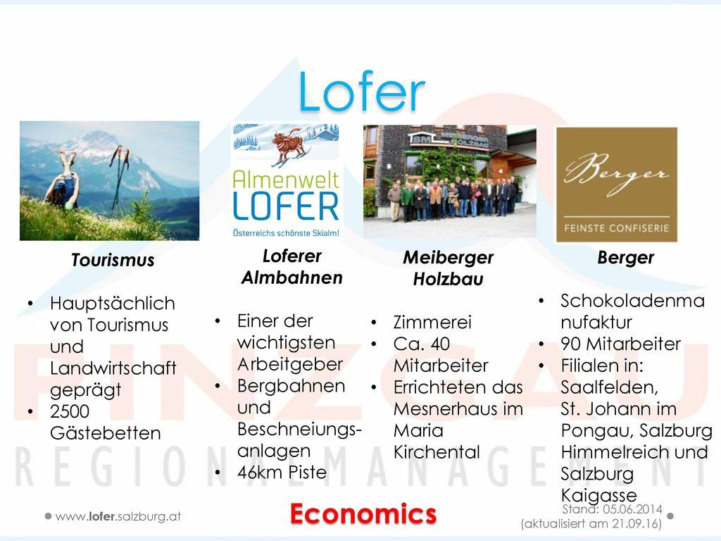 Lofer Economics Tourismus