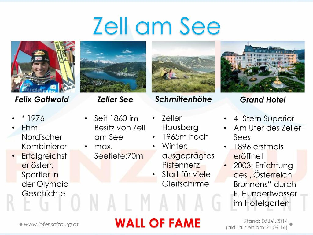 Zell am See WALL OF FAME Felix Gottwald * 1976