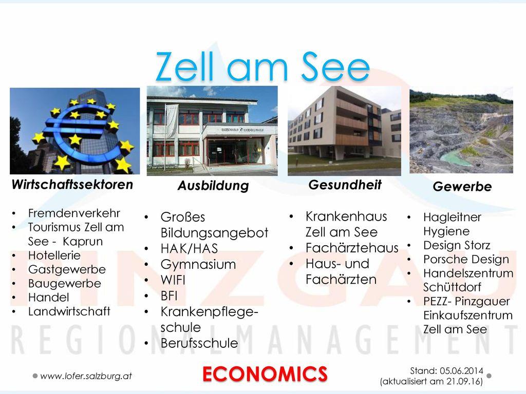 Zell am See ECONOMICS Wirtschaftssektoren Ausbildung Gesundheit