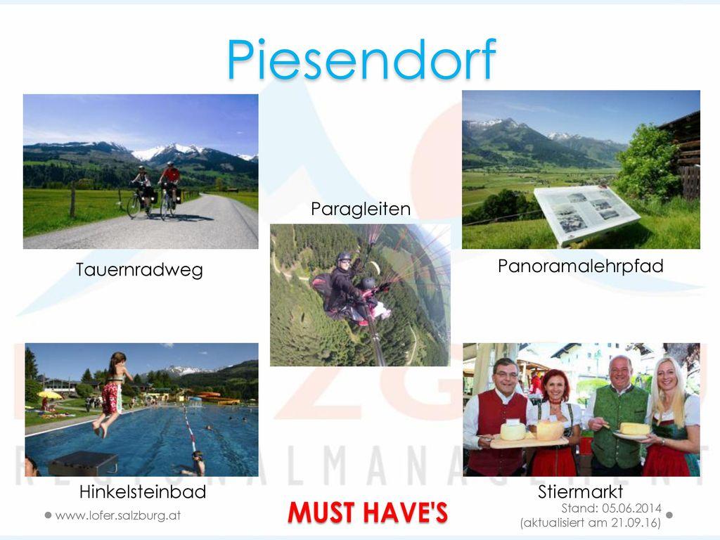 Piesendorf MUST HAVE S Paragleiten Tauernradweg Panoramalehrpfad