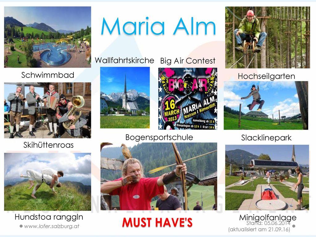 Maria Alm MUST HAVE S Wallfahrtskirche Big Air Contest Schwimmbad