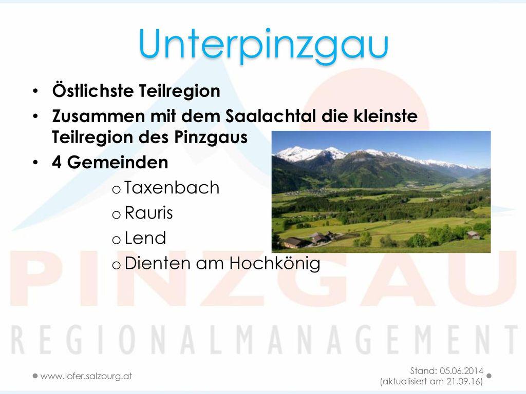 Unterpinzgau Östlichste Teilregion