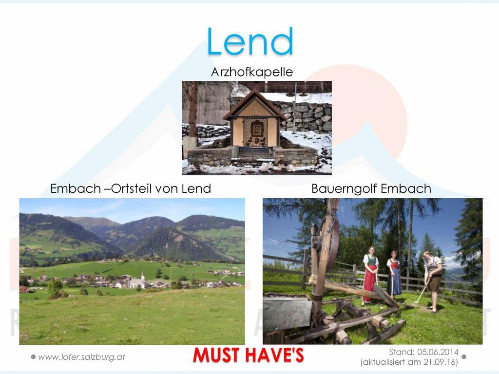 Embach –Ortsteil von Lend