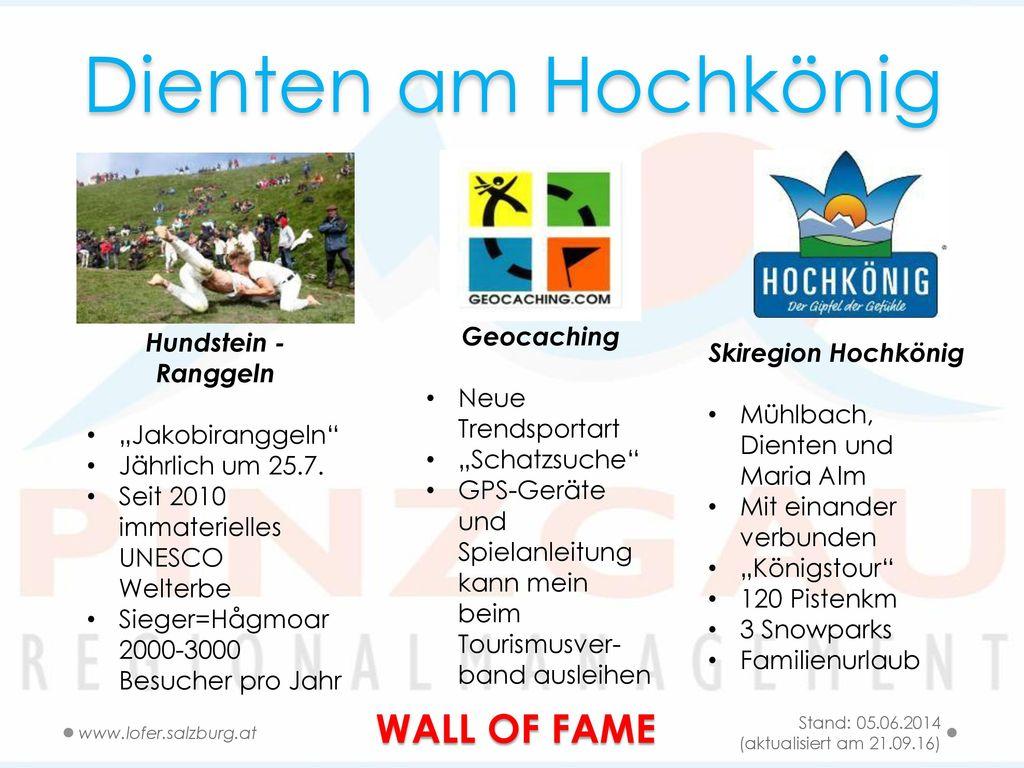 Dienten am Hochkönig WALL OF FAME Geocaching Hundstein -Ranggeln