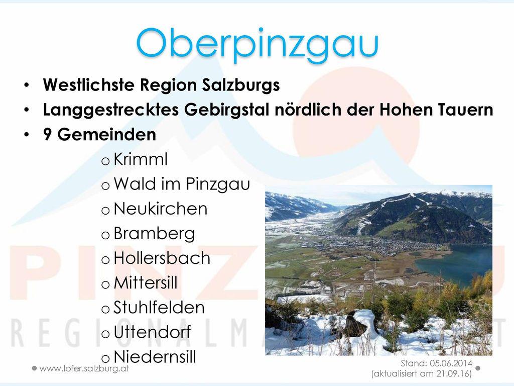 Oberpinzgau Westlichste Region Salzburgs