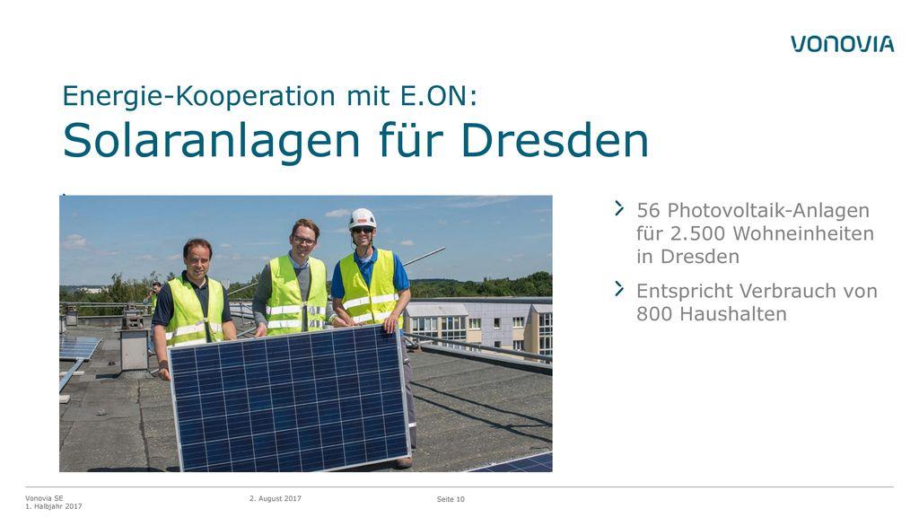 Energie-Kooperation mit E.ON: Solaranlagen für Dresden
