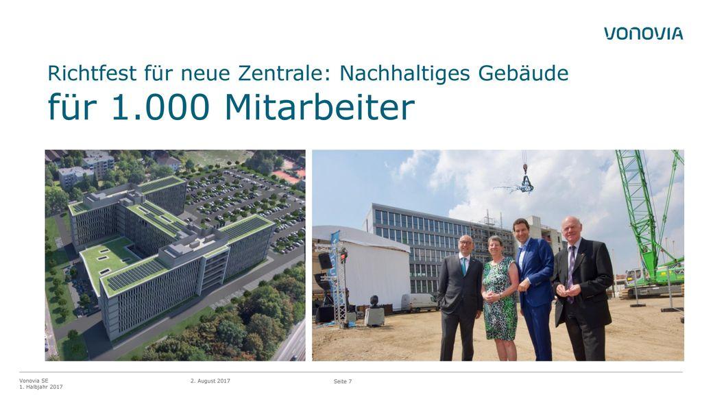 Richtfest für neue Zentrale: Nachhaltiges Gebäude für 1