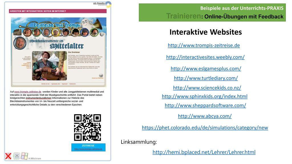 Beispiele aus der Unterrichts-PRAXIS Trainieren: Online-Übungen mit Feedback