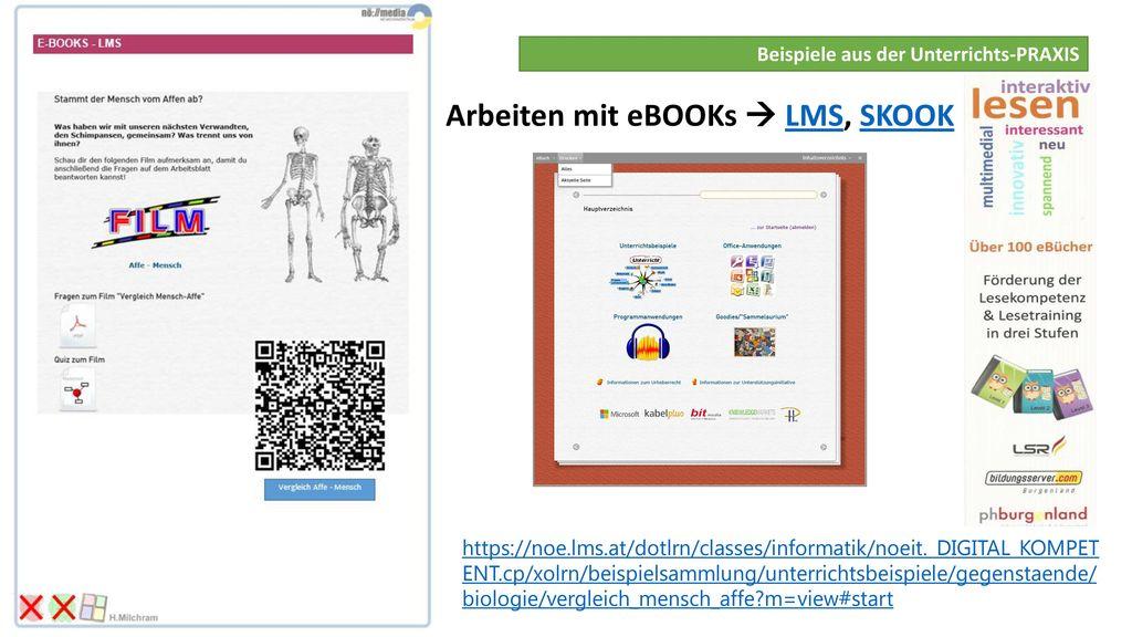 Arbeiten mit eBOOKs  LMS, SKOOK