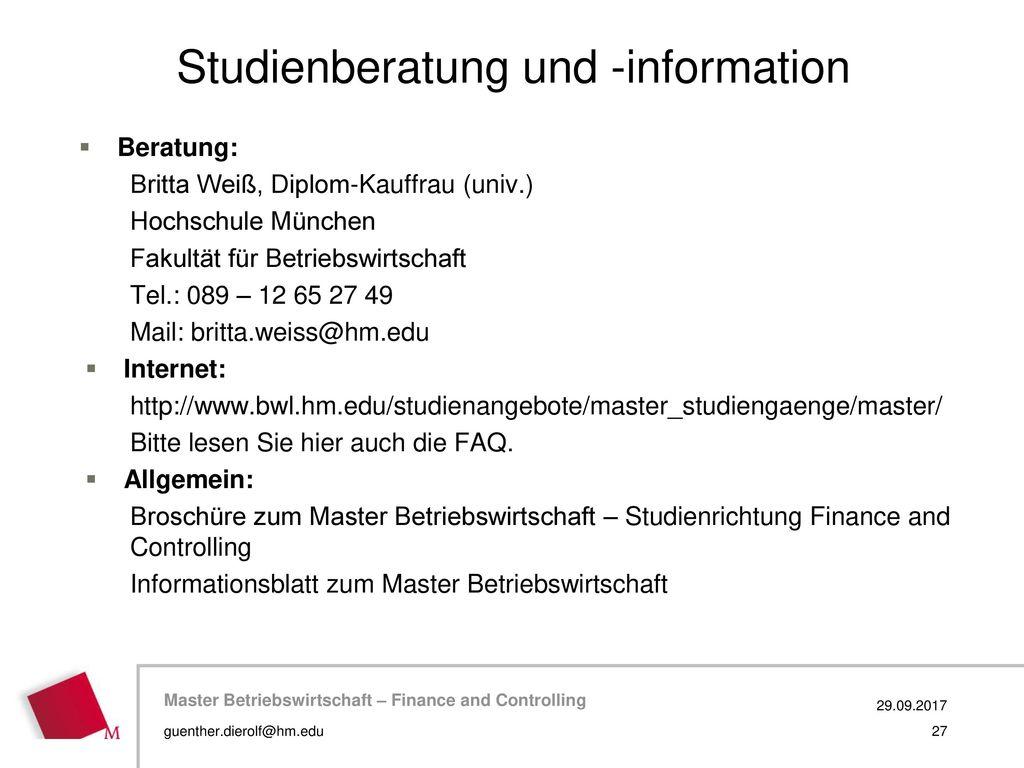Studienberatung und -information