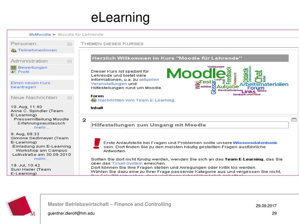 eLearning 29.09.2017 guenther.dierolf@hm.edu