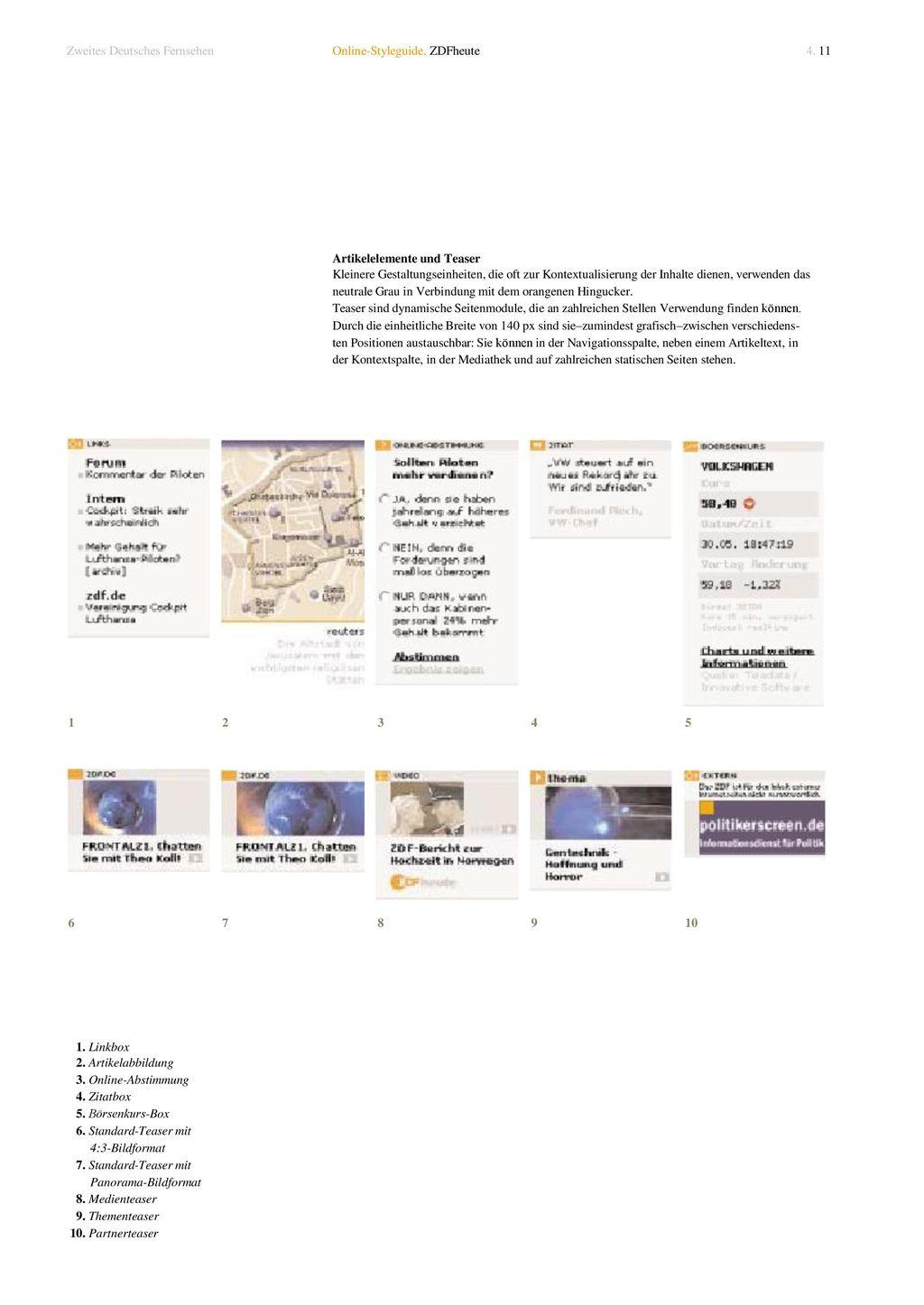 1. Linkbox 2. Artikelabbildung 3. Online-Abstimmung 4. Zitatbox