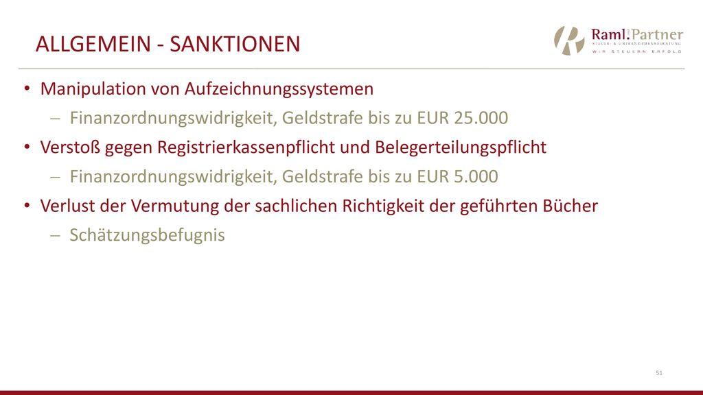 ALLGEMEIN - SanktionEN