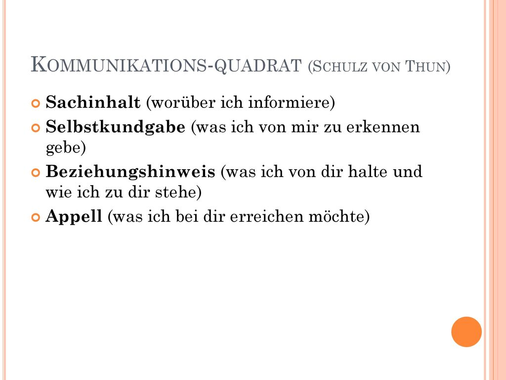 Kommunikations-quadrat (Schulz von Thun)