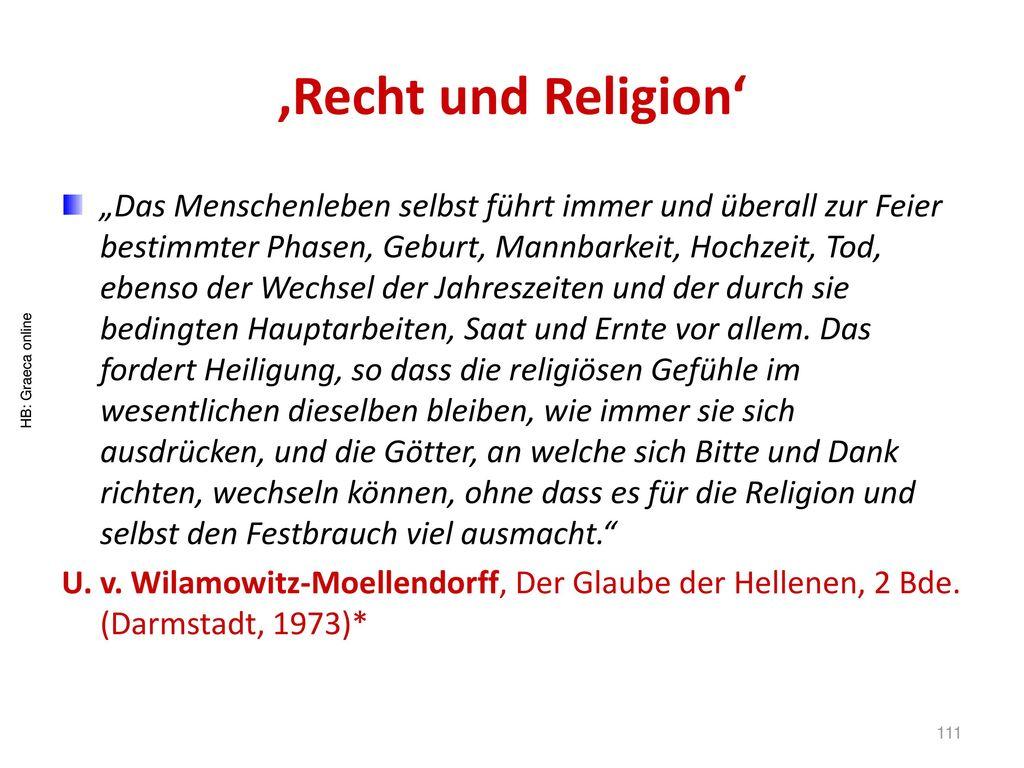 'Recht und Religion'