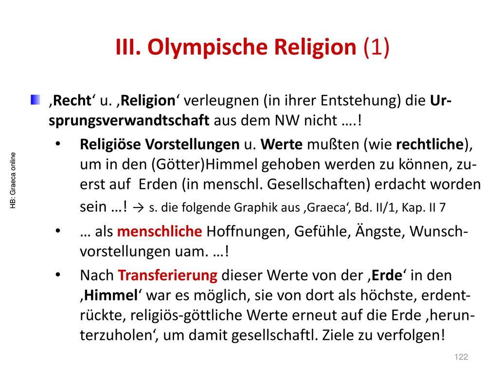 III. Olympische Religion (1)