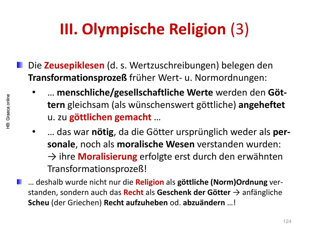III. Olympische Religion (3)