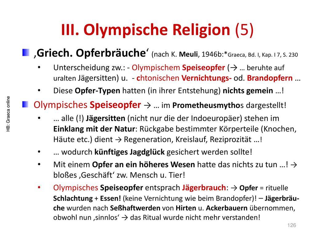 III. Olympische Religion (5)