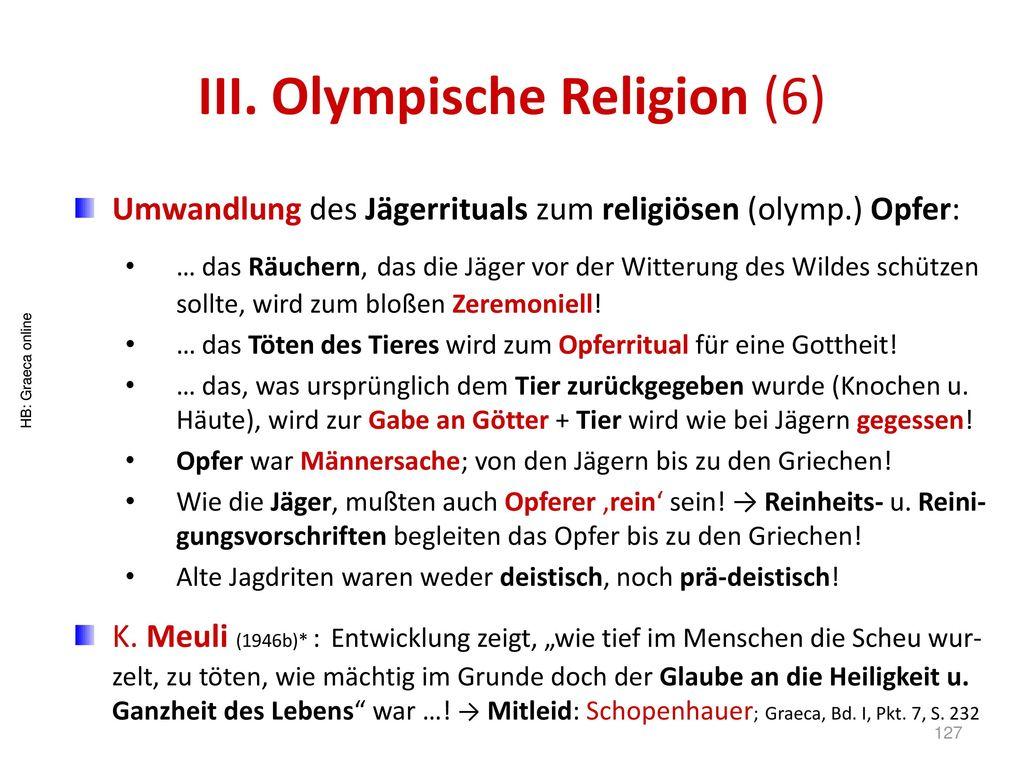 III. Olympische Religion (6)