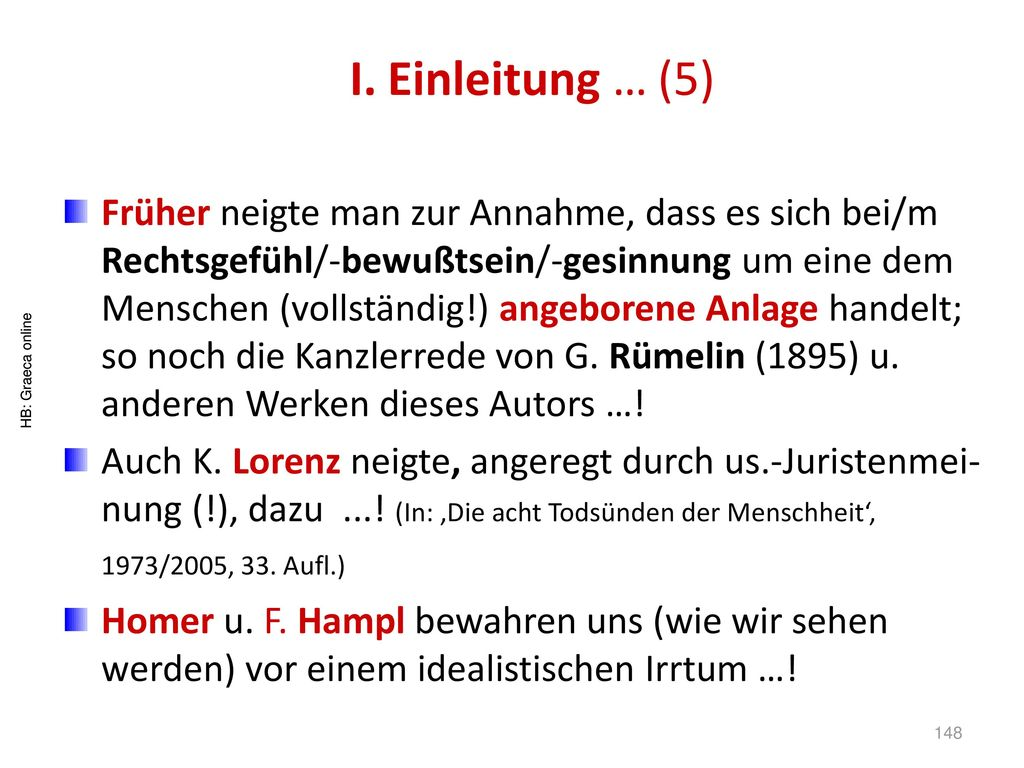 I. Einleitung … (5)